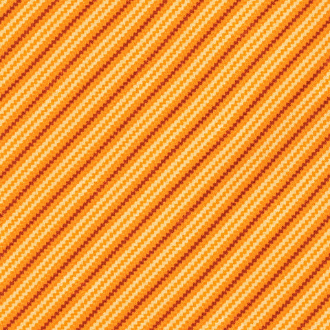 BRIONI Handmade Orange Striped Paisley Silk Tie NEW