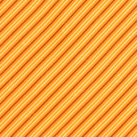 BRIONI Handmade Orange Striped Silk Tie Pocket Square Set NEW