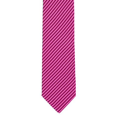 BRIONI Handmade Pink Striped Paisley Silk Tie NEW