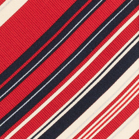 BRIONI Handmade Red Textured Striped Silk Tie Pocket Square Set NEW