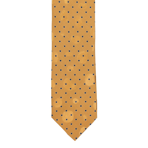 BRIONI Handmade Tan Square Dot Silk Tie NEW