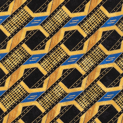 BRIONI Handmade Yellow Geometric Silk Tie NEW