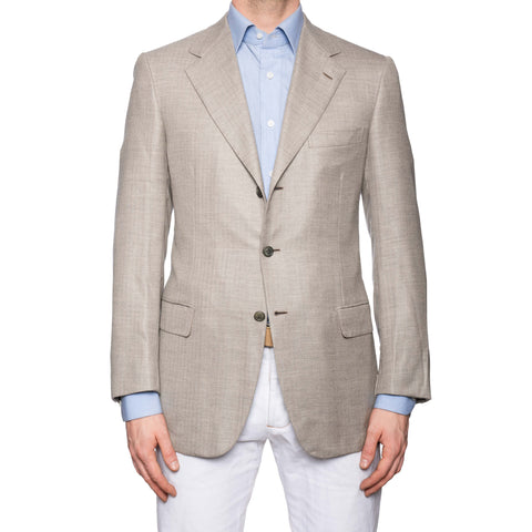 "BRIONI ""NOMENTANO"" Gray Herringbone Cashmere Jacket EU 50 NEW US 40"