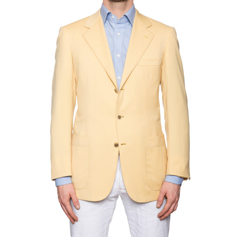 "BRIONI ""PALATINO"" for DRESSY Handmade Yellow Wool Jacket EU 50 NEW US 40"