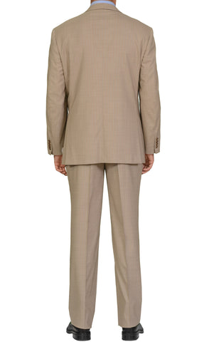 "BRIONI ""PARLAMENTO"" Handmade Beige Striped Wool Suit NEW"