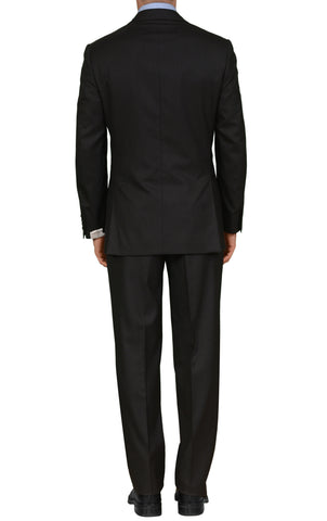 "BRIONI ""PARLAMENTO"" Handmade Black Striped Wool-Silk Suit NEW"