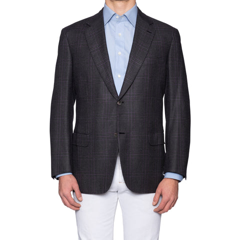 "BRIONI ""PARLAMENTO"" Handmade Gray Wool Super 150's Jacket EU 54 NEW US 44"