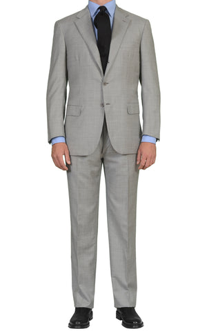 "BRIONI ""PARLAMENTO"" Handmade Light Gray Striped Wool Suit NEW"