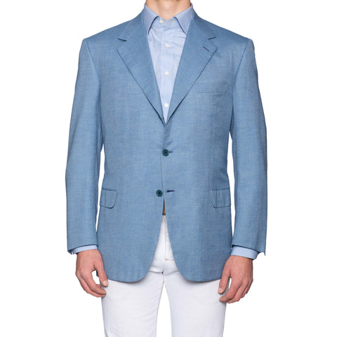 "BRIONI ""NOMENTANO"" For G.BEDIN Blue Cashmere-Silk Jacket EU 56 NEW US 46"