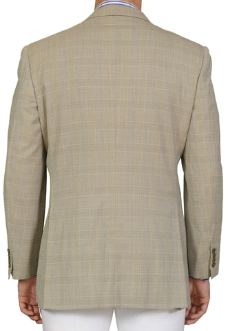 "BRIONI ""TIBERIO"" for ARAMIS Gray Prince of Wales Wool DB Jacket EU 54 NEW US 44"