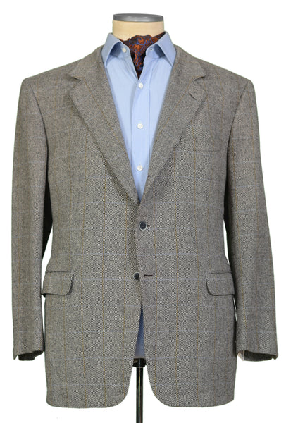 Wool Traiano Windowpane Brioni Jacket Cashmere For Eu Gray Aramis OqwHZaXdC