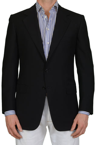 "BRIONI ""TRAIANO"" For ARAMIS Handmade Black Wool Blazer Jacket EU 50 NEW US 40"