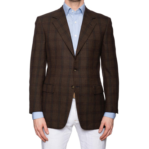 "BRIONI ""TRAIANO"" for ARAMIS Brown Plaid Wool-Cashmere Jacket EU 58 NEW US 48"