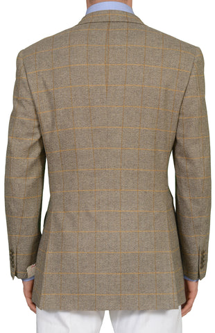 "BRIONI ""TRAIANO"" for ARAMIS Windowpane Wool Cashmere Jacket 50 NEW US 40"