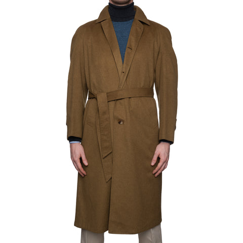 BRIONI for Giovanni Alongi Cashmere Unlined Belted Trench Coat 46 NEW 38