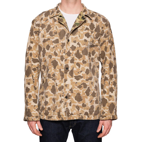 BRONSON MFG. CO. Camouflage Frogskin USMC Stencil Reversible Jacket Size 44
