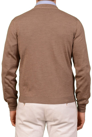 BRUNELLO CUCINELLI Beige Cashmere Cardigan Sweater NEW