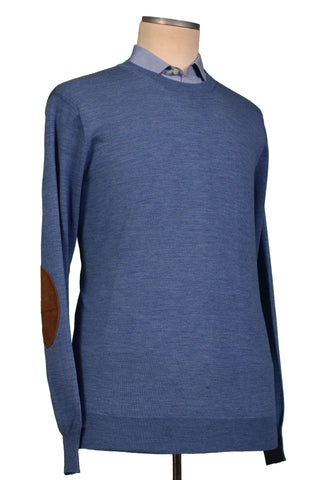 BRUNELLO CUCINELLI Blue Cashmere-Wool Crewneck Sweater US 3XL NEW EU 58