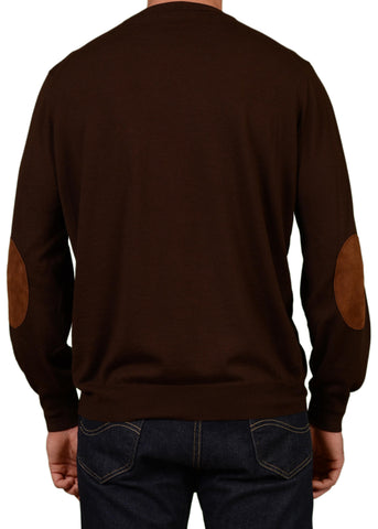 BRUNELLO CUCINELLI Brown Cashmere-Wool Crewneck Sweater NEW - SARTORIALE - 2