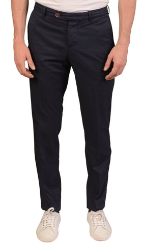 BRUNELLO CUCINELLI Navy Blue Cotton Gabardine Slim Fit Pants EU 56 NEW US 40