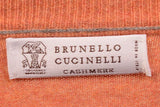 BRUNELLO CUCINELLI Orange Cashmere Crewneck Sweater US XS NEW EU 46