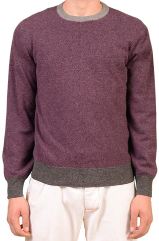 BRUNELLO CUCINELLI Purple Cashmere Crewneck Sweater NEW - SARTORIALE - 1