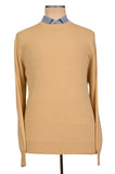 BRUNELLO CUCINELLI Yellow Cashmere Crewneck Sweater US 3XL NEW EU 58