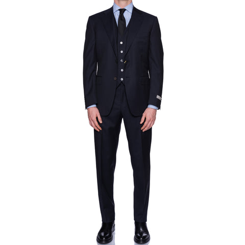 CANALI 1934 Dark Navy Blue Wool 3 Piece Suit EU 50 NEW US 40 2019-20 Model