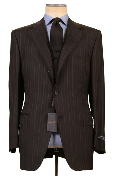 CANALI Exclusive Collection Gray Super 150's Wool Suit EU 56 NEW US 46 Classic