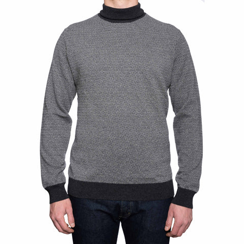 CANALI 1934 Gray Cashmere Knit Turtleneck Sweater EU 56 NEW US XL XXL