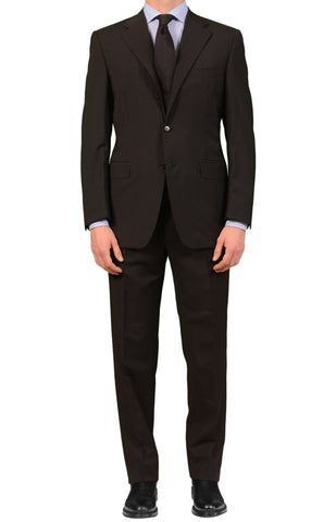 "CANALI Italy Black Wool-Mohair Suit Classic Fit ""Natural Comfort"" NEW"