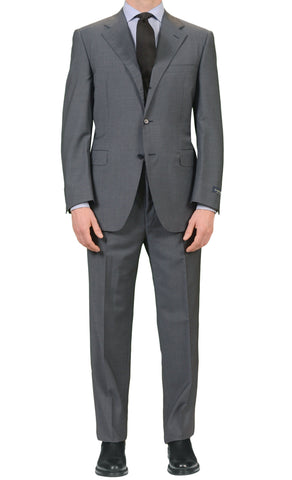 "CANALI Italy Steel Blue-Gray Wool-Mohair Suit Classic Fit ""Natural Comfort"" NEW"