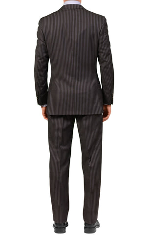 CANALI Italy Dark Gray Striped Wool Business Suit EU 48 NEW US 38 Classic Fit