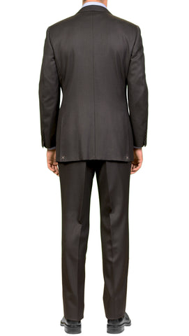 CANALI Black Striped Super 140's Wool Elegant Suit Slim Fit EU 54 NEW US 44 Slim