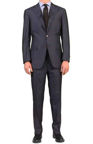 CANALI Made In Italy Blue Silk Business Suit Slim Fit NEW