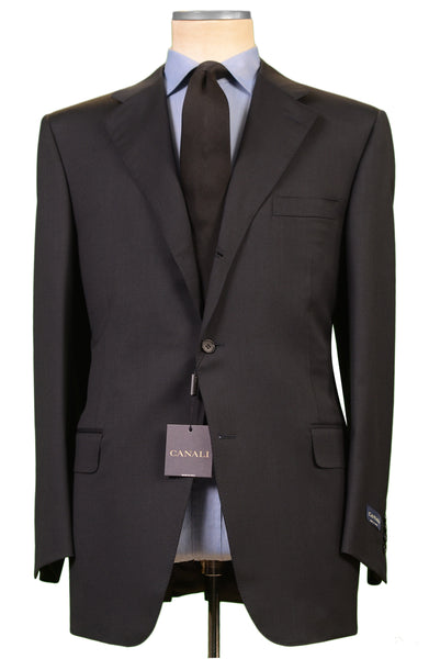 CANALI Made In Italy Solid Navy Blue Wool Business Suit NEW Classic Fit