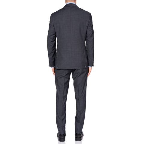 "CANALI 1934 ""Travel Comfort"" Charcoal Gray Wool 1 Button Peak Lapel Suit NEW"