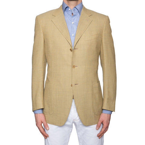 CANALI Tan Wool Super 120's Jacket EU 50 US 40 Classic Fit