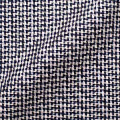 CASTANGIA 1850 Navy Blue-Ivory Gingham Plaid Cotton Jacket EU 54 NEW US 44