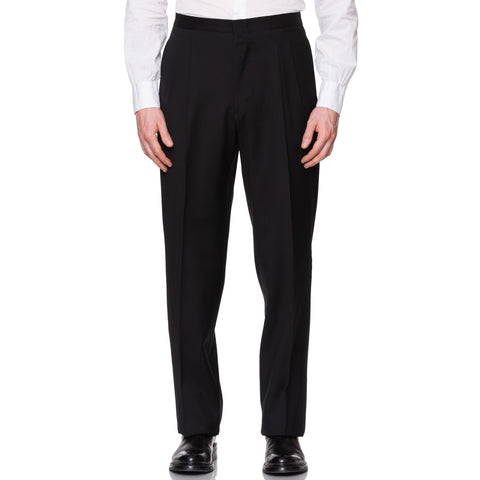 CASTANGIA 1850 Black Wool DP Tuxedo Dress Pants EU 52 NEW US 36