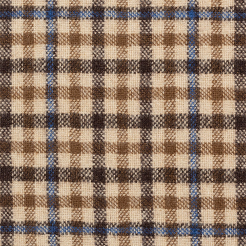 CASTANGIA 1850 Beige Plaid Wool-Cashmere Flannel Jacket EU 48 NEW US 38