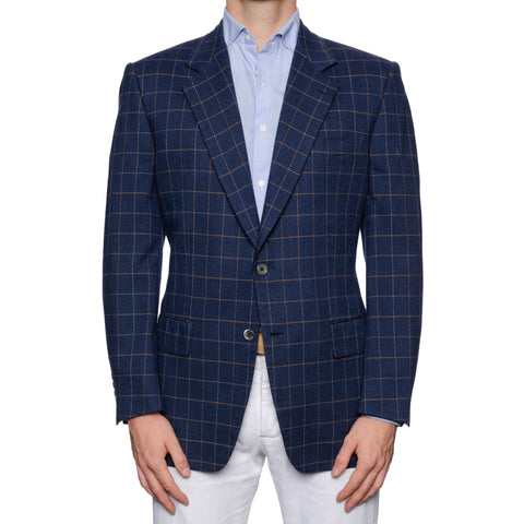 CASTANGIA 1850 Blue Cotton-Cashmere Blazer Jacket EU 52 NEW US 42