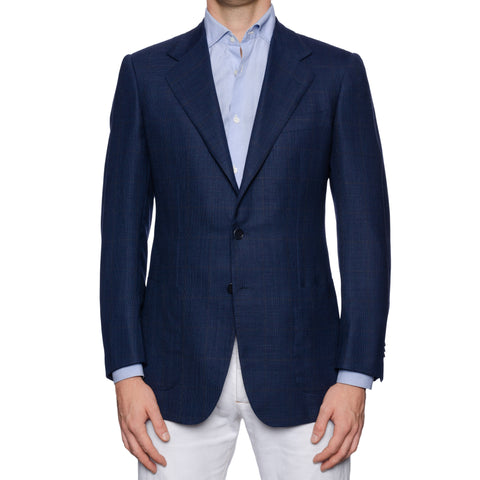 CASTANGIA 1850 Blue Hopsack Wool Sport Coat Blazer Jacket EU 52 NEW US 42