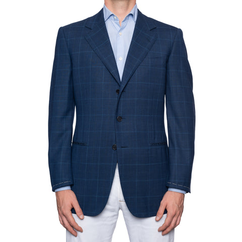 CASTANGIA 1850 Blue Plaid Wool Sport Coat Jacket EU 50 NEW US 40