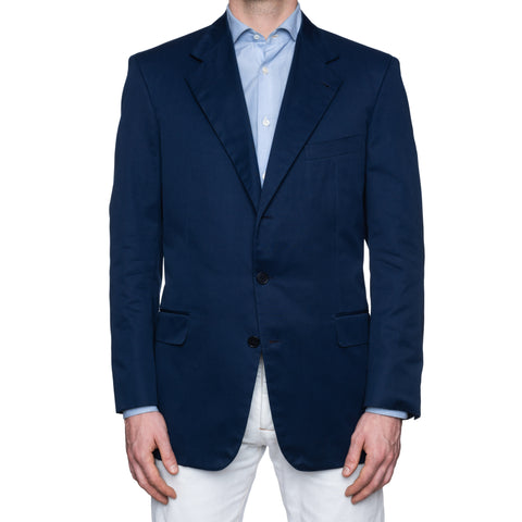 CASTANGIA 1850 Blue Twill Cotton Sport Coat Jacket EU 54 NEW US 44