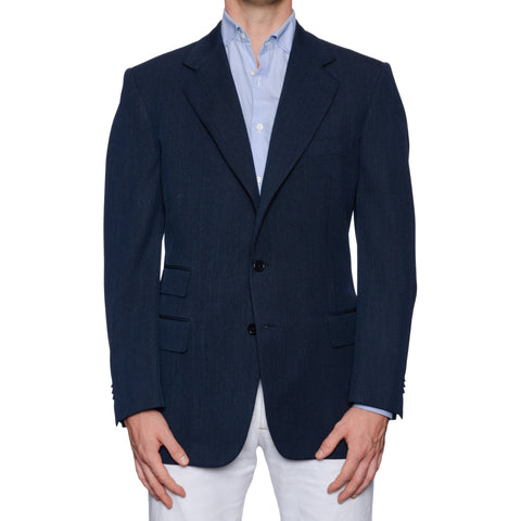 CASTANGIA 1850 Blue Wool Sport Coat Jacket EU 52 NEW US 42