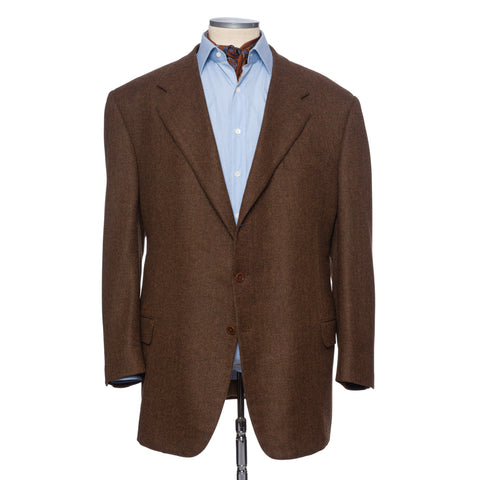 CASTANGIA 1850 Brown Wool-Cashmere Jacket EU 70 NEW US 60 Big and Tall