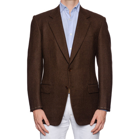 CASTANGIA 1850 Brown Wool-Cashmere Twill Sport Coat Jacket EU 50 NEW US 40