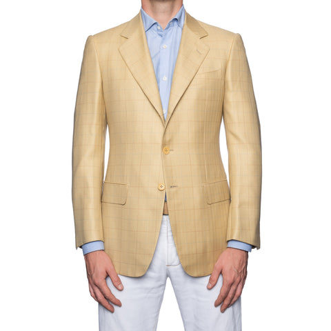 CASTANGIA 1850 Cream Wool-Silk-Cashmere Jacket EU 48 NEW US 38