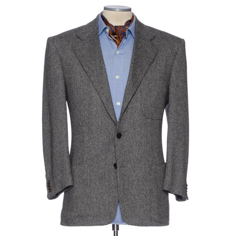 CASTANGIA 1850 Gray Cashmere Donegal Tweed Jacket EU 48 NEW US 38 Short